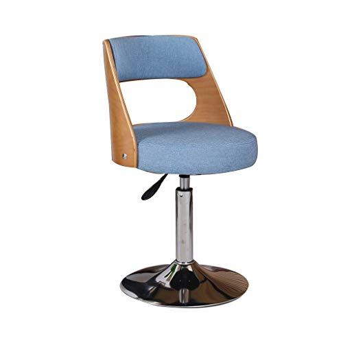 Einfacher Drehstuhl Holzcomputer Stuhl Kleiner Stuhl Gasheber Moderner Studentenstuhl Lernstuhl Computer Hocker Schreibtischstuhl mit Rückenlehne und Fußstütze
