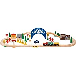 Chad Valley 60 Piece Set Tren de madera