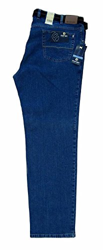 Jeans-Hose untersetzte Größen Herren Unterbauch blau Pionier Über