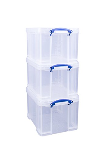 Really Useful Aufbewahrungsboxen 3er-Pack 35 l farblos