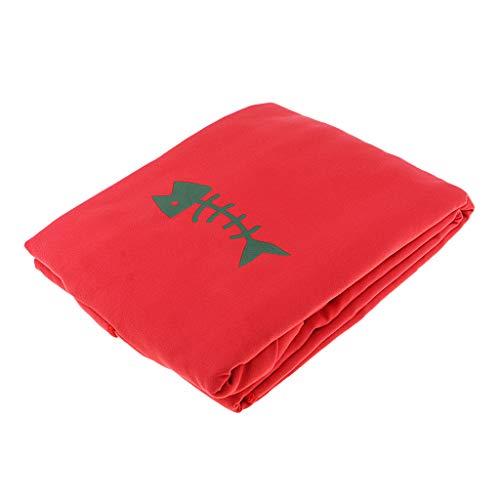 MagiDeal Surfen Badeponcho Handtuch Bademantel Poncho Badetuch Badehandtuch zum Umziehen für Herren Damen - Rot