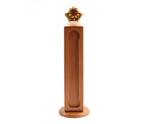 Thun® - dispenser porta capsule nespresso con girasole - legno e ceramica - linea country