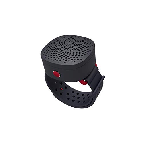 Tcaijing Handgelenk Mini Bluetooth Lautsprecher Abnehmbare Outdoor Sports Laufen Tragbare Subwoofer Bluetooth 4.2 Geburtstag Geschenk 2 Farbe Optional (Farbe : SCHWARZ)