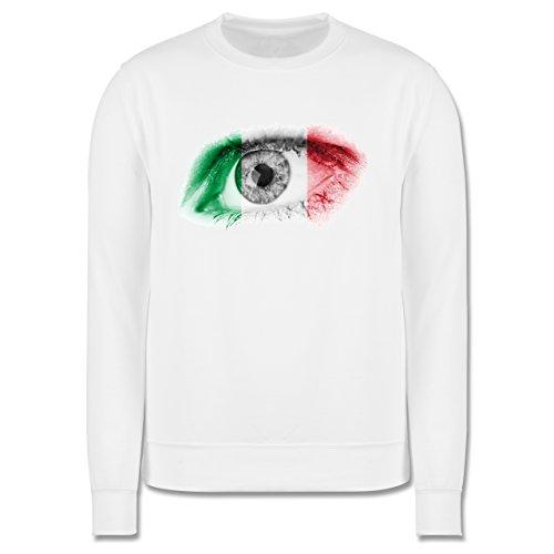 EM 2016 - Frankreich - Auge Bodypaint Italien - Herren Premium Pullover Weiß