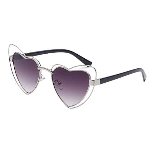 Makefortune Frauen Sonnenbrillen, Frauen Retro Fashion Heart-shaped Shades Damen Sonnenbrille Integrierte UV-Brille