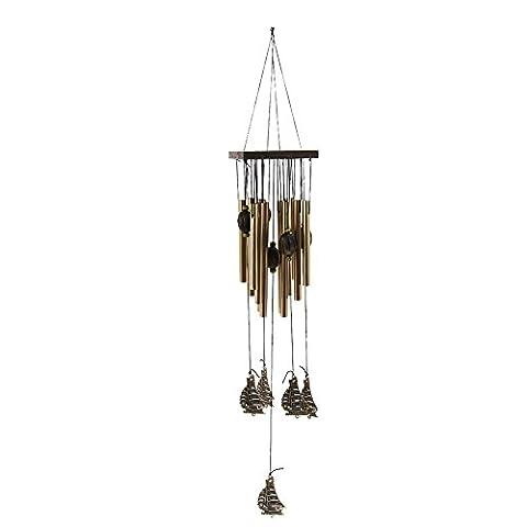 Moresave traditionnel Carillon Bronze Wind Bells Carillon classique Chine Style extérieur/intérieur Home Décoration à suspendre
