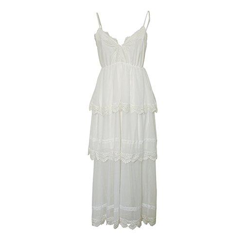 Im Frühjahr und im Sommer süße Prinzessin gaze Gurt Bademantel palace Retro modal homewear Schlafanzug durch Frauen gehen können, L/Rosa L / weiß