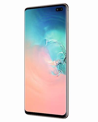 """三星Galaxy S10 +智能手机,1TB,6.4显示器"""",双卡,白色(棱镜白色)[国际版]"""