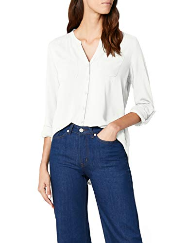 ONLY Damen onlFIRST LS Pocket Shirt NOOS WVN Bluse, Weiß (Cloud Dancer), 36