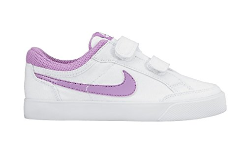 Nike Capri 3 Ltr (Psv), Baskets Basses Fille Multicolore - Blanco / Morado (White / Fuchsia Glow)
