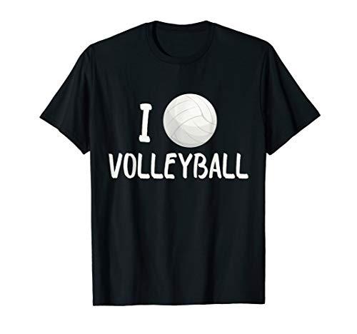 Funny I Love Volleyball I Heart Sport Gift Mannschaftssport T-Shirt