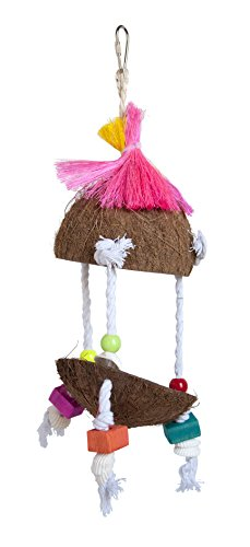 PREVUE PET PRODUCTS Tropical Teasers Tiki Hut Bird Toy, Multicolor 2