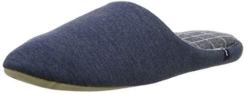 Isotoner Isotoner Mens Pattern Mule Slippers, Mules homme - Bleu (Blue Marl Blu), 47/48 EU (11/12 UK)