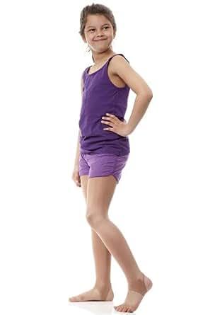 Silky Paire de collants de danse scintillants Fille  - Beige - Orange - 11 ans