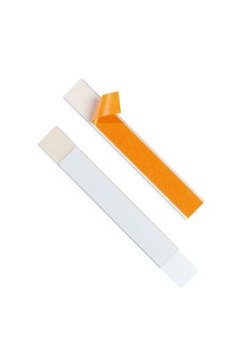 Durable 803019 Schilderrahmen Schildfix, mit Blanko-Einsteckschild, 200 x 30 mm, 5 Stück - Regal Schubladen Streifen