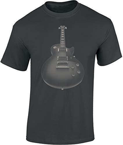 Camiseta: Guitarra eléctrica - Guitar - Guitarrista - Band-a - Grupo - Música Music-al - T-Shirt Hombre-s y Mujer-es - Fan - Rock - Heavy Metal - Bajo - Concierto Festival Show - Regalo (Gris XXL)