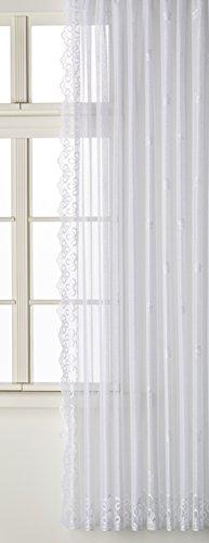 Anna Cortina Seitenschal, Stoff, Weiß, 250x175