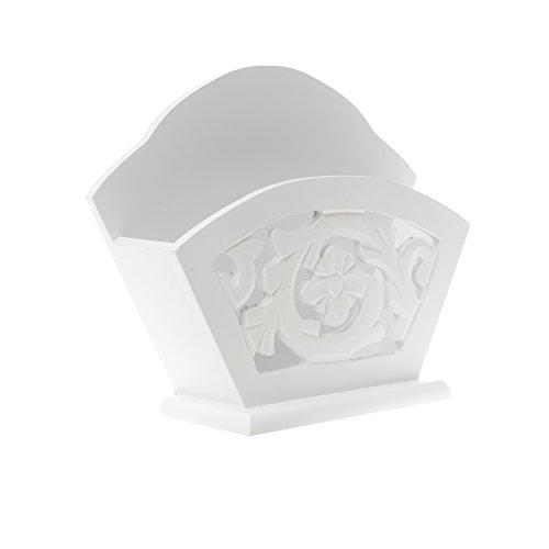 elbmöbel 20x16x7cm Kaffeefilterhalter weiß antik Holz Filterständer Filtertütenhalter