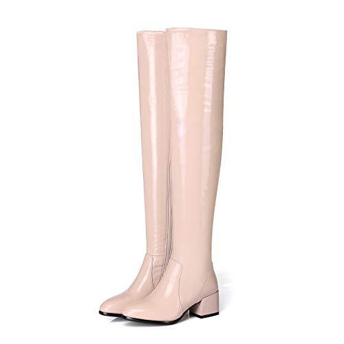 Botas Largas por Debajo de la Rodilla para Mujer, Botas de Tacón Alto Cómodo Tacón de Mujer, Regalos...