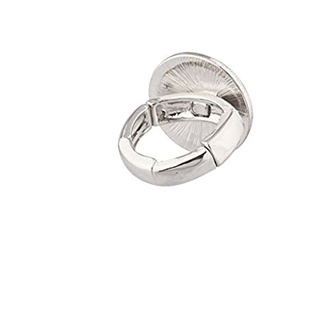 Lux Accessories - Bague Extensible Sourire Be Happy Don'T Worry Pavé Bling.