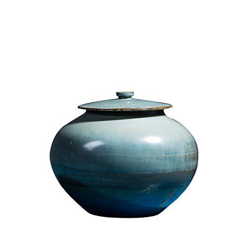Xiaoqing Funeral Humano cremación de Cenizas humanas/Adecuado para entierrar asequible/Apto para Cementerio para enterrar la Paz y el Amor Celeste (Azul Oscuro)