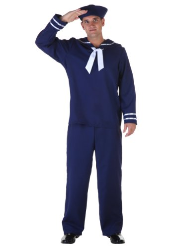 Plus Size Blue Sailor Fancy dress costume (Plus Size Sailor Dress Fancy)