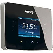 """Warmup 3iE - Termostato para suelo radiante (táctil, pantalla de 2"""" en color), color negro"""