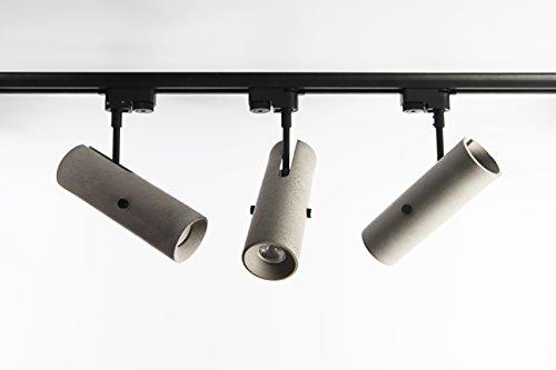 bentu hormigón-Lámpara hormigón Carril Foco 3fases de foco de hormigón/cemento/Concrete 7x 27cm...