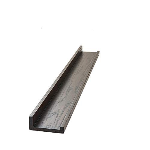 LNFA Holz schwimmende Wandregal, Form Eiche schwimmende Lagerung Wandregal, Regal CD DVD Rack Display Dekoration Wandregal. Brown 900mm*100mm -