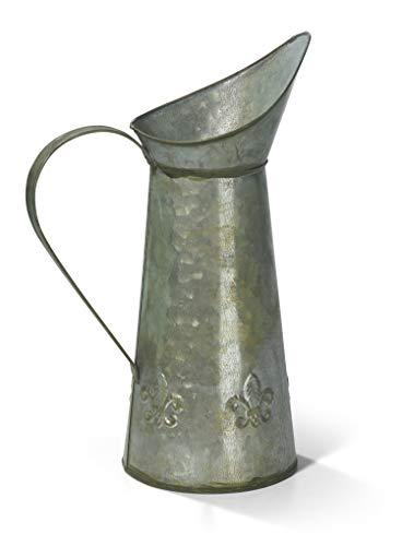 Moritz Metallkanne Zinkkrug Kanne Krug Zink Vase antik grün Dekokanne Metall Landhausstil Shabby