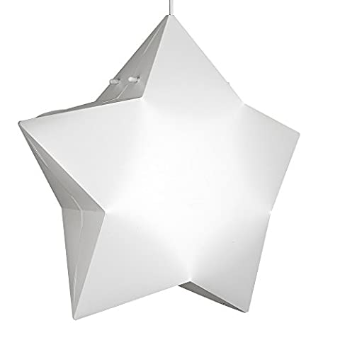 Children's Bedroom/Nursery White 3D Star Design Ceiling Pendant Light Shade
