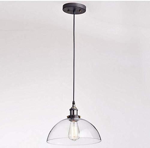 W-LI Deckenleuchten Lampen Kronleuchter Pendelleuchten Kreative Einfache Vintage Industrie Dome Glas Pendelleuchte für Schlafzimmer Wohnzimmer Küche Gang Restaurant Bar Cafe