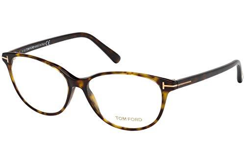 Tom Ford FT5421 Brillen 53-14-140 Dunkel Havana Mit Demonstrations Gläsern 052 TF5421 TF 5421 FT 5421