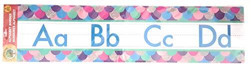Teaching Baum Manuskript Alphabet Bulletin Back to School Board Set Creative Streifen Schule Büro Scholastic Lehrer Bulletin Trim Wall Border Aufkleber Klassenzimmer W/Bonus Trim Dekoration Schindeln -