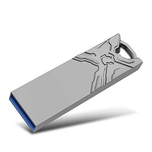 USB Stick,Kosiy Speicherstick 128GB Metall Memory Sticks USB-Flash-Laufwerk High Speed für PC/Laptop/Notebook (128GB, A-Schwarz-1) - Capless Usb-laufwerk