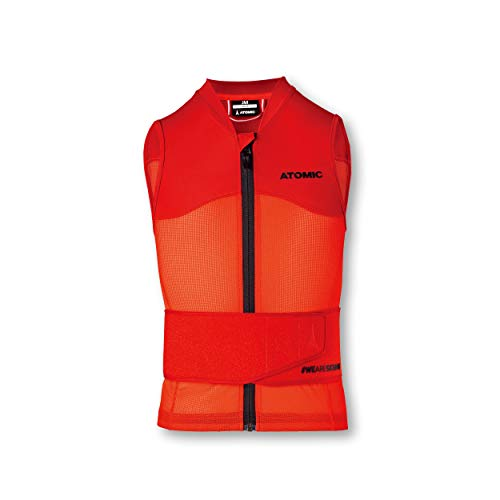 Atomic Kinder Live Shield Vest JR Ski-Protektor-Weste, rot, M