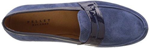 Pellet Beebee E17, Mocassins Femme Bleu (Velours / Vernis Bleu)