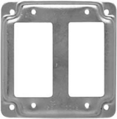 Raco Electrical Box Cover 6.5 Cu In 1/2 Raised Steel Bulk by Raco -