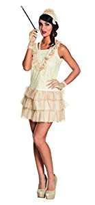 Boland 85010 - Adult Costume Charleston Señora, Beige, tamaño 40/42