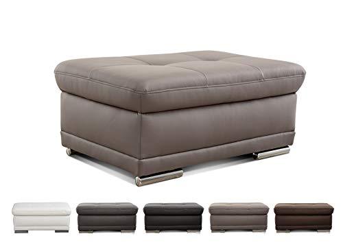 Cavadore Puff aniamo/Acolchado Taburete como Soporte Banco, Piel sintética, Elefante, 100 x 67 x 43 cm