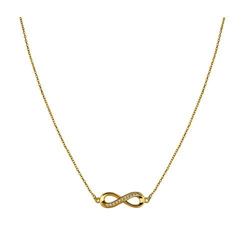 SOFIA MILANI Damen Halskette Unendlich Infinity Silber Gelb Vergoldet 50247