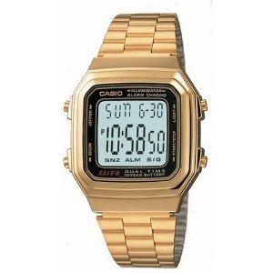 Casio A178WGA-1A - Reloj de acero inoxidable con mecanismo de cuarzo digital para hombre