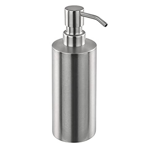 bremermann® Distributeur de savon de la gamme pour salle de bains PIAZZA en inox, mat