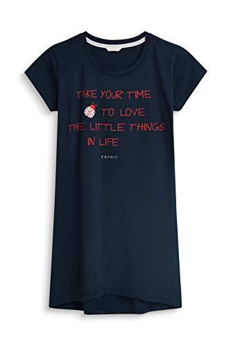 ESPRIT Mädchen Nachthemd Lara YG NW Nightshirt 1/2 039EF5Y002, Einfarbig, Gr. 170 (Herstellergröße: 170/176), Blau (Navy 400)