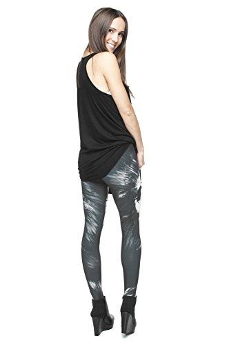 Femmes Mesdames Leggings Longueur complet extensible Collants Pantalon pour ne pas voir à travers Fitness Yoga Running Hipster UK 81012 Multicolore - KING KONG