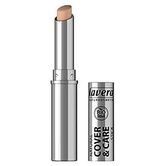 lavera Cover & Care Stick -Honey 03- Corrector y anti imperfecciones ∙ Natural tono de piel ∙ Vegan ✔ Cosmética Natural ✔ Bio ✔ Maquillaje Organico 100% Certificado (1.7 gr)