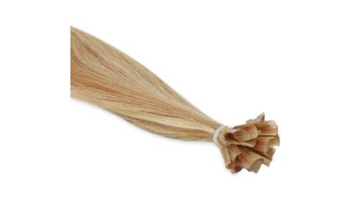 Extensions Cheveux Kératine 100 mèches russes 1gr Méché Blond Vénitien et Blond Platine 50cm