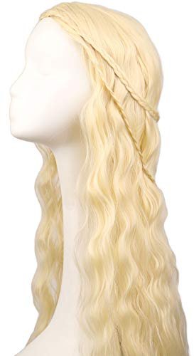 Faule Cosplay-Perücken für Game of Thrones braune Curly Wig Long Wig Haar Curly Wave Haare für ()