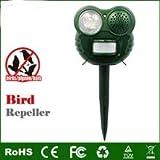 Vikidoo Scaccia Uccelli EMETTE Suono di mitragliatrice e Luce Flash Lampeggiante. Non E' AD ULTRASUONI