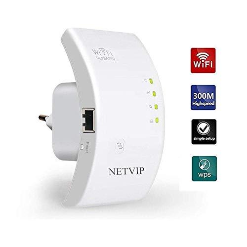 NETVIP Repetidor de Red WiFi 300Mbps/ 2.4GHz Amplificador...